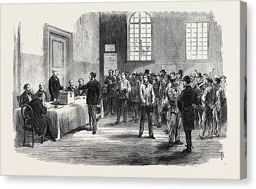 The Elections In France Electors Voting Canvas Print by French School