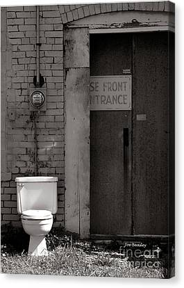 The Electric Outhouse Canvas Print by   Joe Beasley