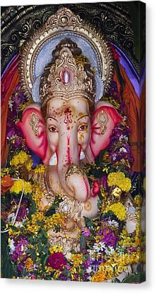 Ganapati Canvas Print - The Elephant God by Tim Gainey