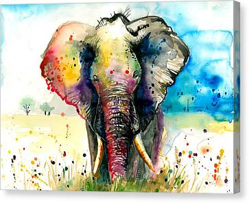 The Rainbow Elephant - Xxl Format Canvas Print