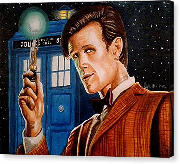 The Eleventh Doctor Canvas Print by Al  Molina