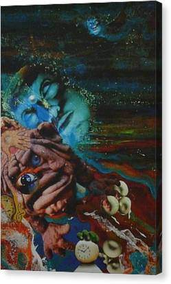 Canvas Print featuring the mixed media The Eleventh Hour by Douglas Fromm