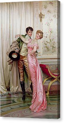 Sweetheart Canvas Print - The Embrace by Joseph Frederick Charles Soulacroix
