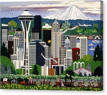 The Emerald City Seattle Canvas Print