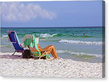 The Emerald Coast Canvas Print by Charles Beeler