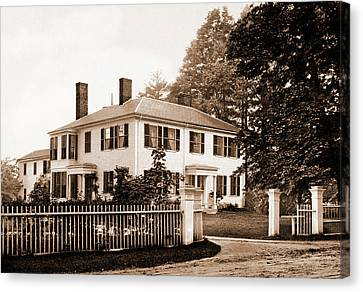 The Emerson House, Concord, Emerson House Concord Canvas Print by Litz Collection