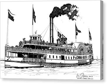 Canvas Print featuring the drawing The Emma Giles by Ira Shander