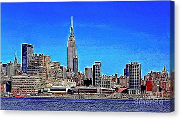 The Empire State Building And The New York Skyline 20130430 Canvas Print by Wingsdomain Art and Photography