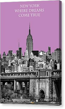 The Empire State Building Pantone African Violet Canvas Print by John Farnan