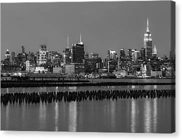 The Empire State Building Pastels II Canvas Print by Susan Candelario