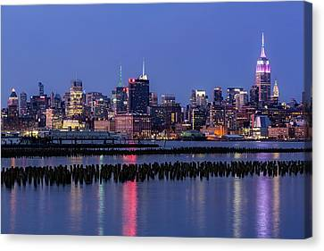 The Empire State Building Pastels Canvas Print