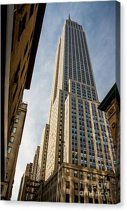 The Empire State Building Canvas Print by Sabine Edrissi
