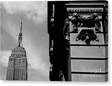 Canvas Print featuring the photograph The Empire State Building by Steven Macanka