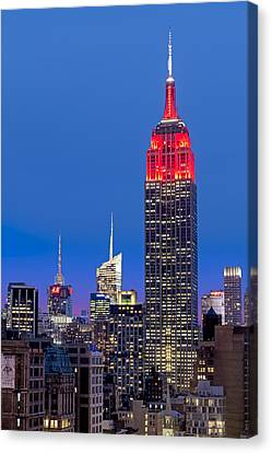 The Empire State Building Canvas Print by Susan Candelario