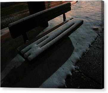 The Empty Bench Canvas Print by Guy Ricketts