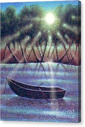 Row Boat Canvas Print - The Empty Boat by Cristophers Dream Artistry