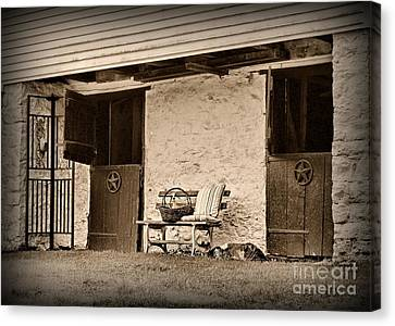 The Empty Stable Canvas Print by Paul Ward