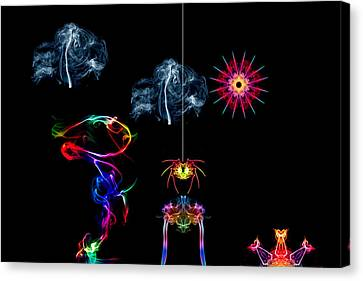 The Enchanted Smoke Spider Canvas Print by Steve Purnell