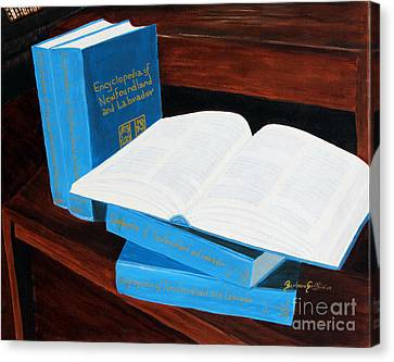 The Encyclopedia Of Newfoundland And Labrador - Joeys Books Canvas Print by Barbara Griffin