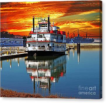 Colorful Sky Canvas Print - The End Of A Beautiful Day In The San Francisco Bay by Jim Fitzpatrick