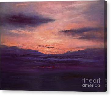 The End Of A Perfect Day Canvas Print by Valerie Travers