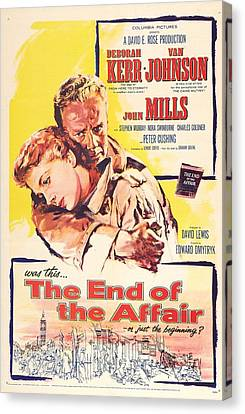 1950s Poster Art Canvas Print - The End Of The Affair, Us Poster by Everett
