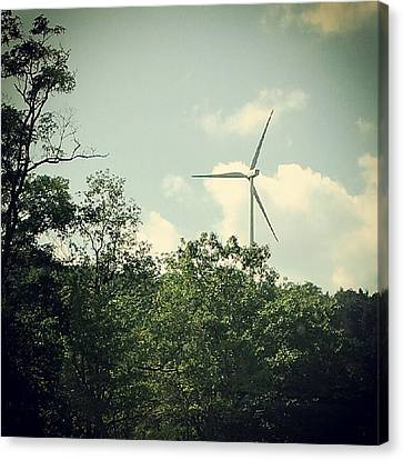 Canvas Print featuring the photograph The Energy Of Wind by Thomasina Durkay