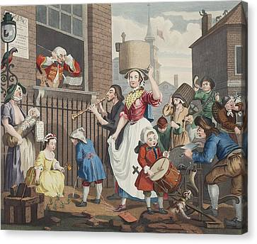 The Enraged Musician, Illustration Canvas Print by William Hogarth