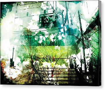 Canvas Print featuring the photograph The Entanglement 6 by The Art of Marsha Charlebois