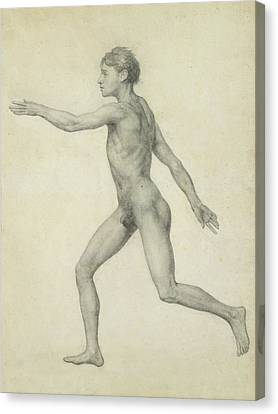 The Entire Human Figure From The Left Lateral View Canvas Print by George Stubbs