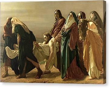 The Entombment, 1883 Canvas Print