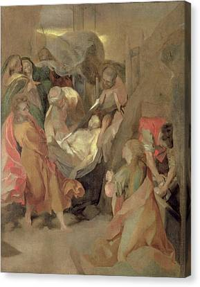 The Entombment Of Christ Canvas Print