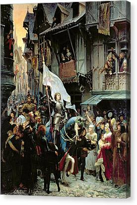 The Entrance Of Joan Of Arc Into Orleans Canvas Print by Jean-Jacques Scherrer