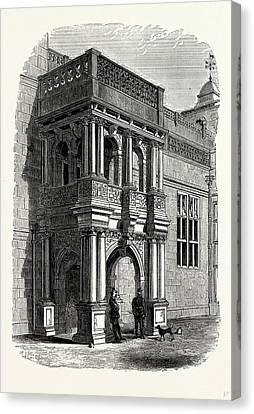 The Entrance Porch, West Front, Audley End Canvas Print by Litz Collection