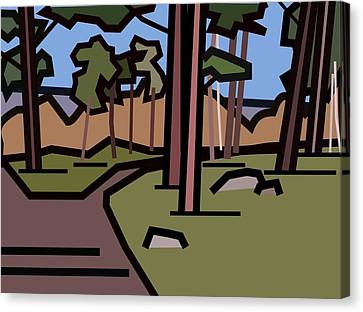 The Entrance To The Wood. Canvas Print by Kenneth North