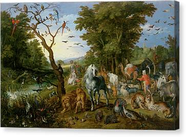 The Entry Of The Animals Into Noahs Ark Jan Brueghel Canvas Print by Litz Collection