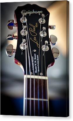The Epiphone Les Paul Guitar Canvas Print by David Patterson