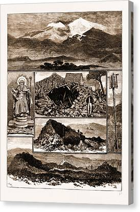 The Eruption Of Mount Etna, Sicily, 1883 1. View Canvas Print by Litz Collection