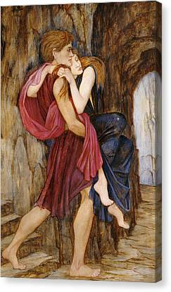 The Escape Canvas Print by John Roddam Spencer Stanhope