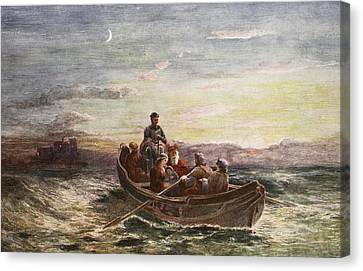 The Escape Of Mary Queen Of Scots Canvas Print by Francis Danby
