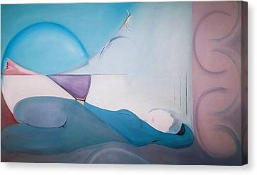 Canvas Print featuring the painting The Essence Of Temptation by Jodie Marie Anne Richardson Traugott          aka jm-ART