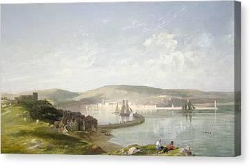 The Estuary Canvas Print by James Francis Danby