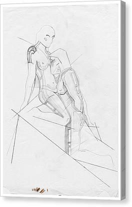The Eternal Idol - Homage Rodin Canvas Print