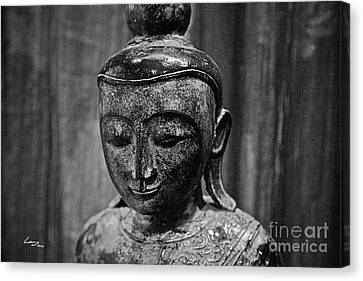 Buddha Canvas Print - The Eternal - Monochrome. by T Lang