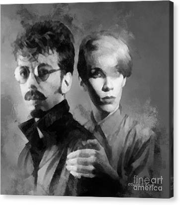 The Eurythmics Canvas Print by Paulette B Wright