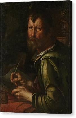 The Evangelist Saint Luke, Joachim Wtewael Canvas Print by Litz Collection