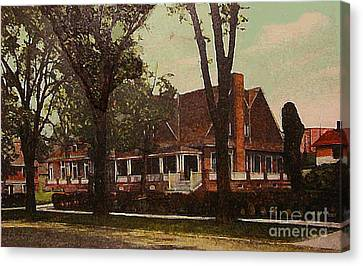 The Evanston Club In Evanston Il In 1910 Canvas Print by Dwight Goss