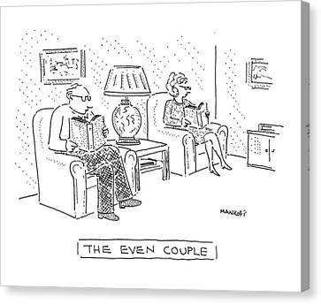 The Even Couple Canvas Print by Robert Mankoff