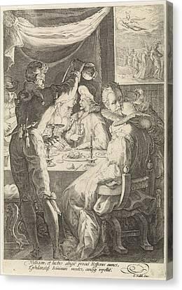 The Evening, Jan Saenredam, Cornelius Schonaeus Canvas Print by Jan Saenredam And Cornelius Schonaeus And Gerard Valck