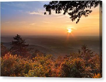 The Evening Star Canvas Print by Debra and Dave Vanderlaan